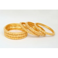 Gold Plated Bracelet with Circular Inscriptions